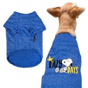 Camiseta de Inverno Zooz Pets Snoopy Lazy Days Azul