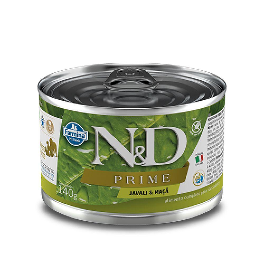 Ração Úmida Farmina N&D Prime Javali e Maçã para Cães Adultos 140 g  - Focinharia