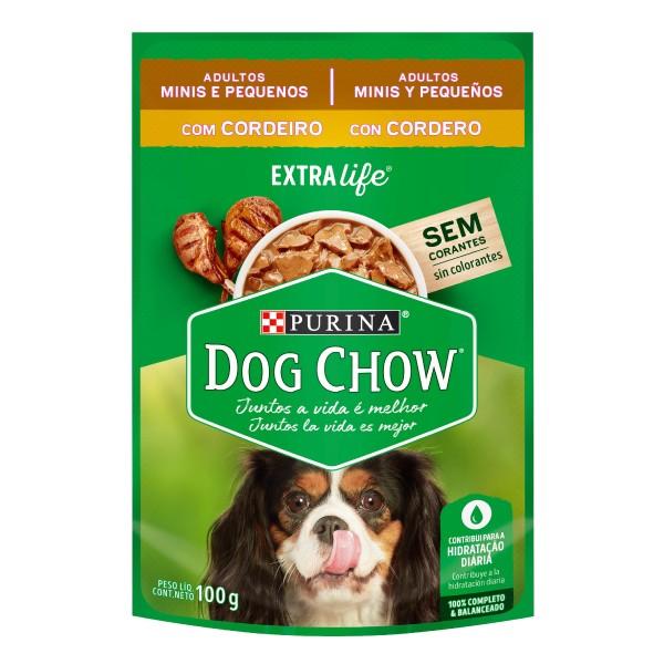 Alimento Úmido Nestlé Purina Dog Chow Sachê Extra Life Cordeiro para Cães Adultos de Raças Minis e Pequenas  - Focinharia