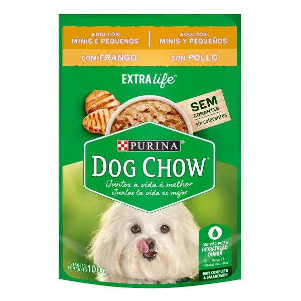 Alimento Úmido Nestlé Purina Dog Chow Sachê Extra Life Frango para Cães Adultos de Raças Minis e Pequenas  - Focinharia