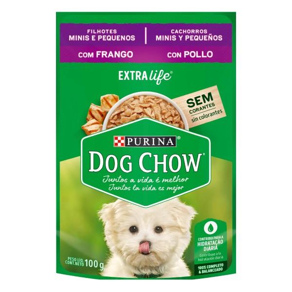 Alimento Úmido Nestlé Purina Dog Chow Sachê Extra Life Frango para Cães Filhotes de Raças Minis e Pequenas  - Focinharia