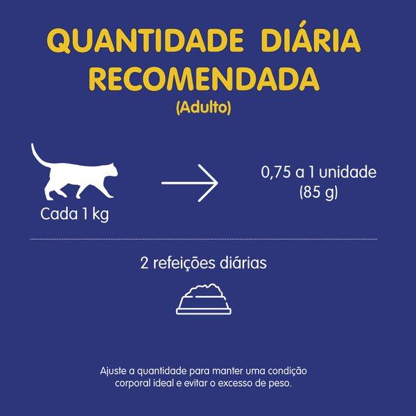 Alimento Úmido Nestlé Purina Felix Fantastic Mix Salmão e Carne para Gatos Adultos  - Focinharia