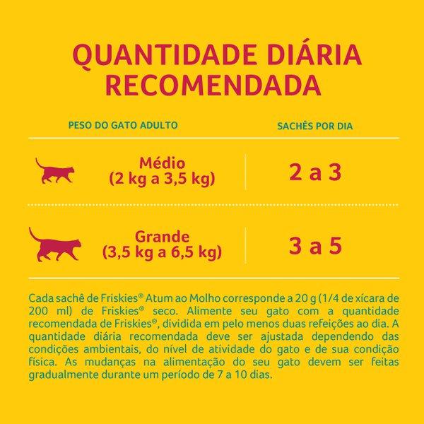 Alimento Úmido Nestlé Purina Friskies Sachê Atum ao Molho para Gatos Adultos  - Focinharia