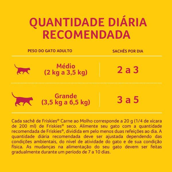 Alimento Úmido Nestlé Purina Friskies Sachê Carne ao Molho para Gatos Adultos  - Focinharia