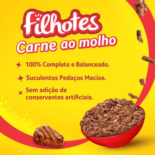 Alimento Úmido Nestlé Purina Friskies Sachê Carne ao Molho para Gatos Filhotes  - Focinharia