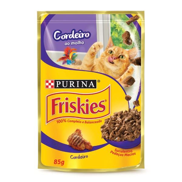 Alimento Úmido Nestlé Purina Friskies Sachê Cordeiro ao Molho para Gatos Adultos  - Focinharia