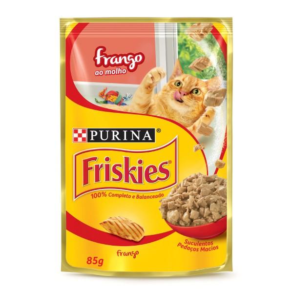 Alimento Úmido Nestlé Purina Friskies Sachê Frango ao Molho para Gatos Adultos  - Focinharia