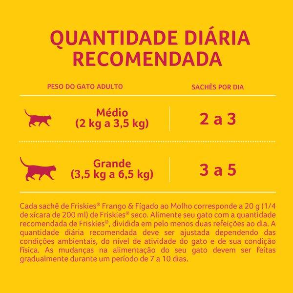 Alimento Úmido Nestlé Purina Friskies Sachê Frango e Fígado ao Molho para Gatos Adultos  - Focinharia