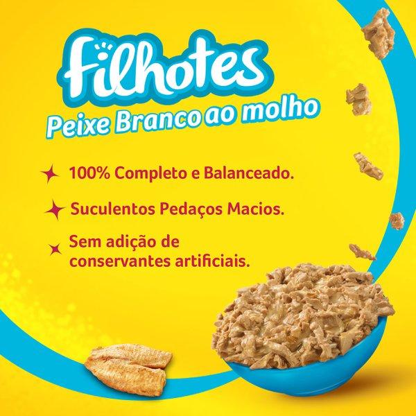Alimento Úmido Nestlé Purina Friskies Sachê Peixe Branco ao Molho para Gatos Filhotes  - Focinharia
