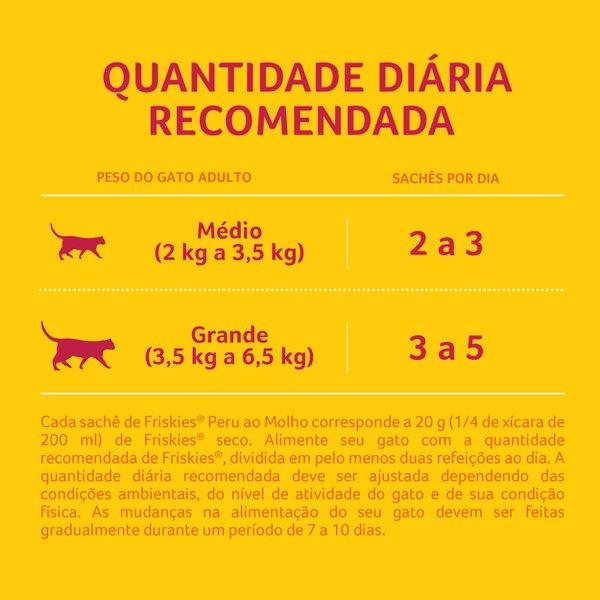Alimento Úmido Nestlé Purina Friskies Sachê Peru ao Molho para Gatos Adultos  - Focinharia