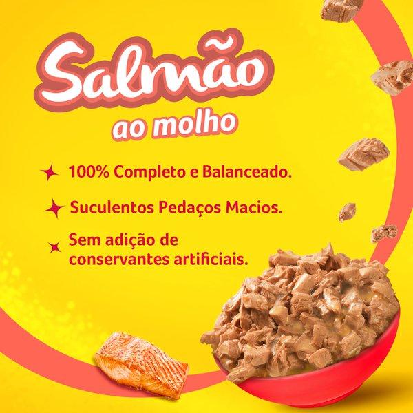 Alimento Úmido Nestlé Purina Friskies Sachê Salmão ao Molho para Gatos Adultos  - Focinharia