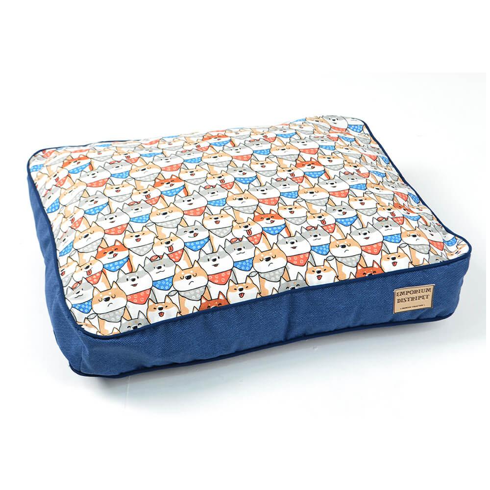 Almofada Impermeável Emporium Distripet Doguinhos Azul  - Focinharia