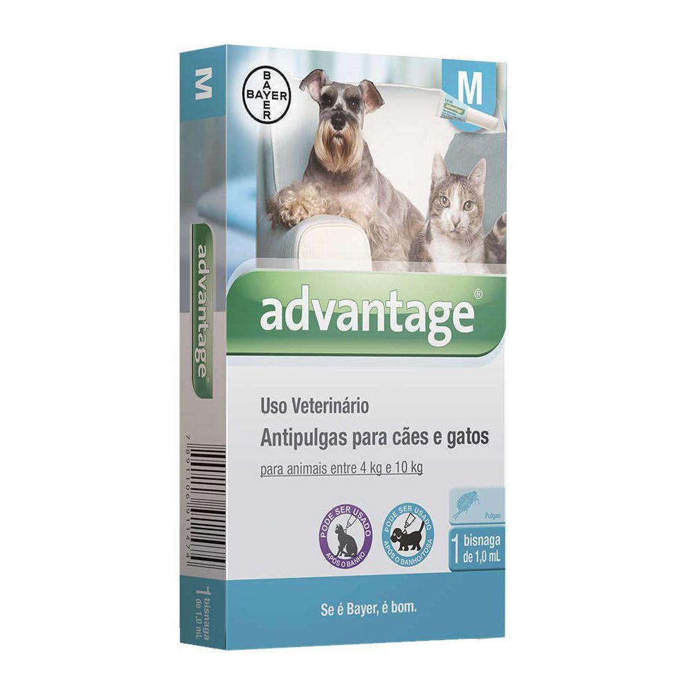 Antipulgas Advantage para Cães e Gatos de 4 a 10 Kg - 1 mL  - Focinharia