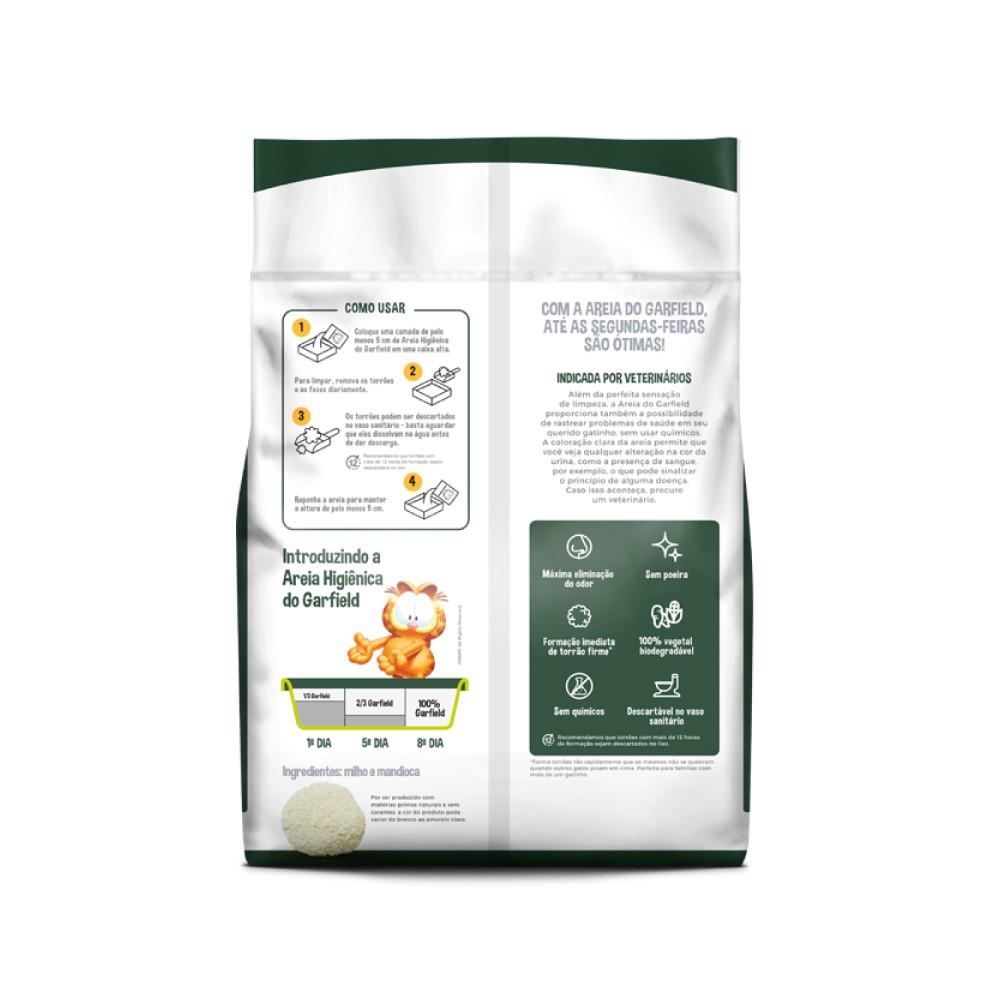 Areia Higiênica Biodegradável Fina Garfield  - Focinharia