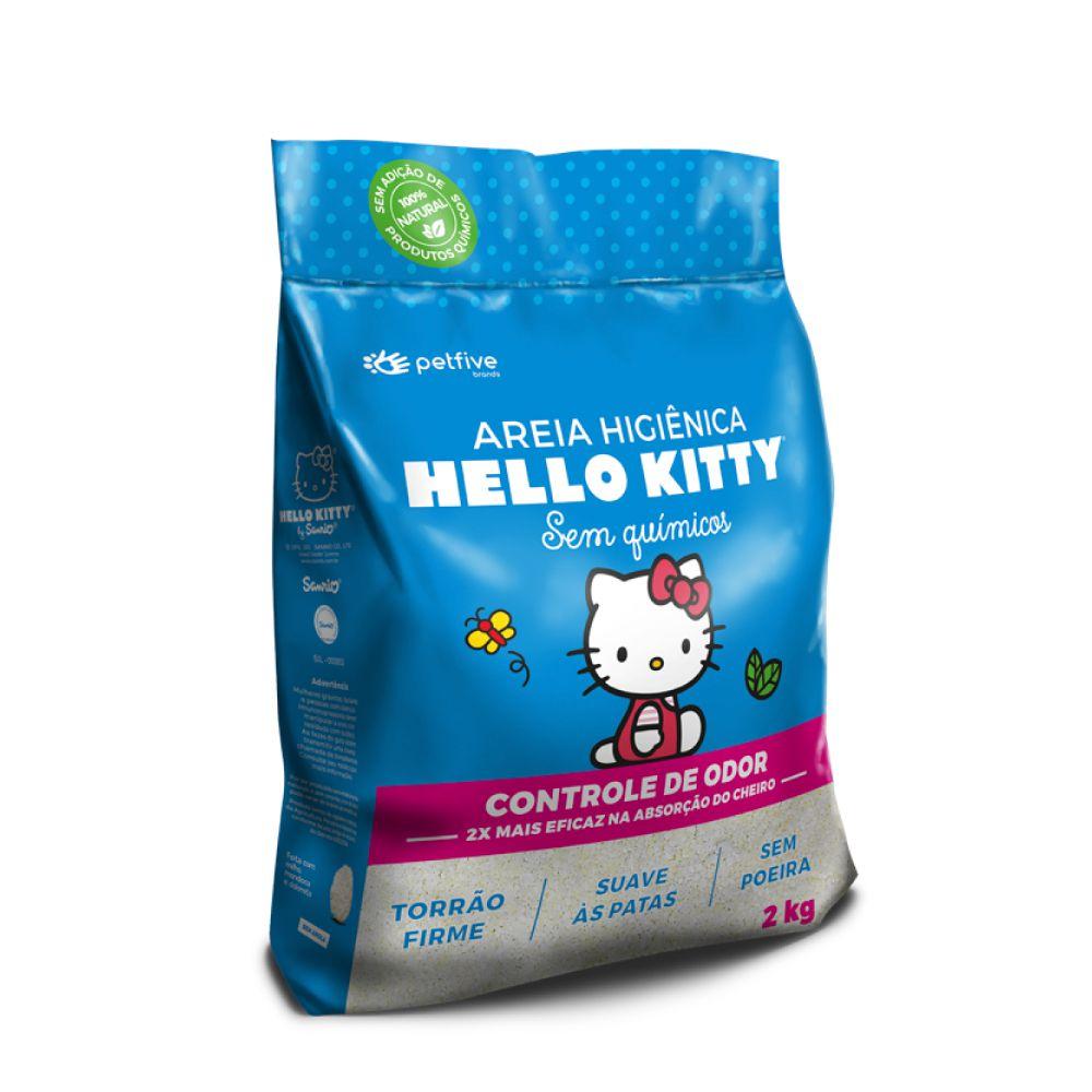 Areia Higiênica Clássica Hello Kitty Azul  - Focinharia