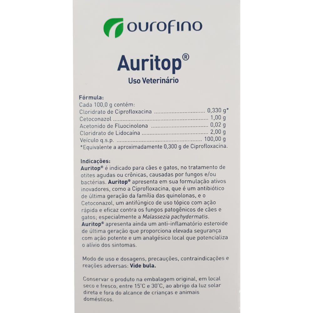 Auritop Ourofino Gel Otológico 30 g  - Focinharia