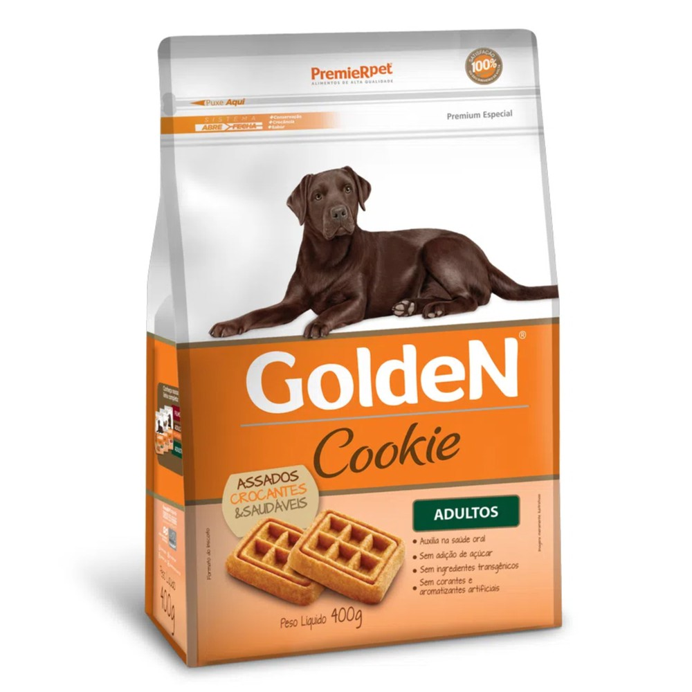 Biscoito Premier Pet Golden Cookie para Cães Adultos  - Focinharia