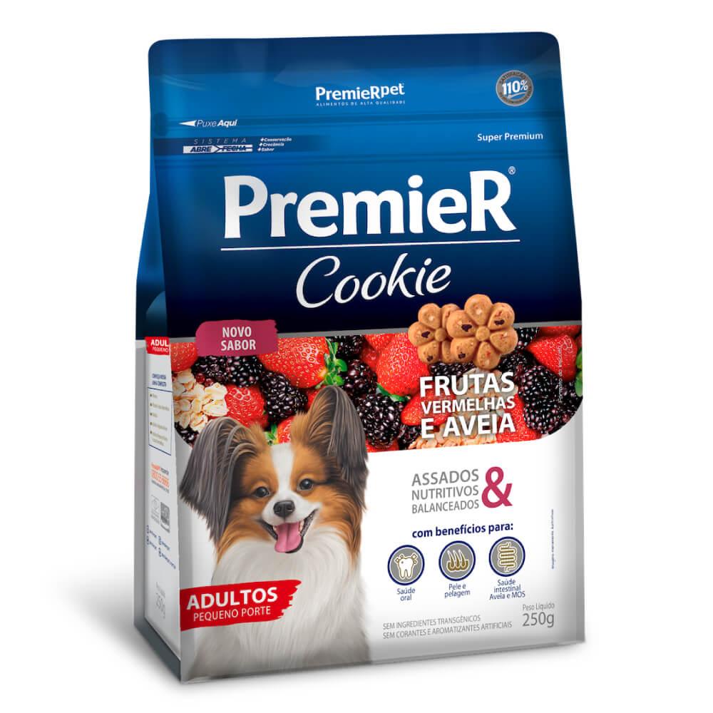 Biscoito Premier Cookie Frutas Vermelhas e Aveia para Cães Adultos de Raças Pequenas  - Focinharia