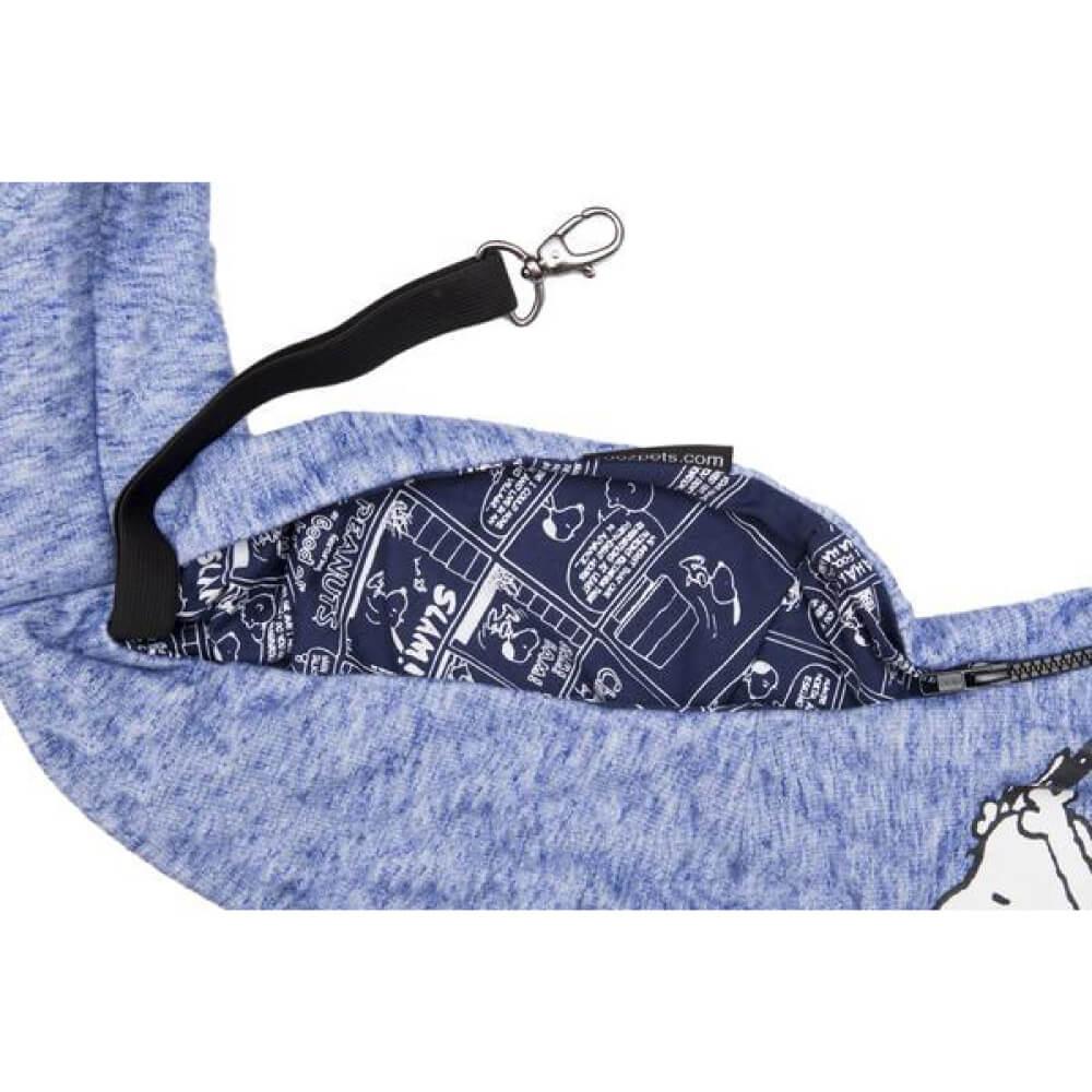 Bolsa Sling Snoopy Jumping Zooz Pets Azul Royal  - Focinharia