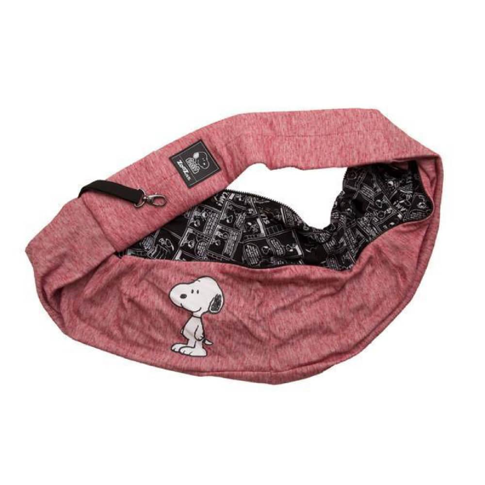 Bolsa Sling Zooz Pets Snoopy Smile Vermelha  - Focinharia