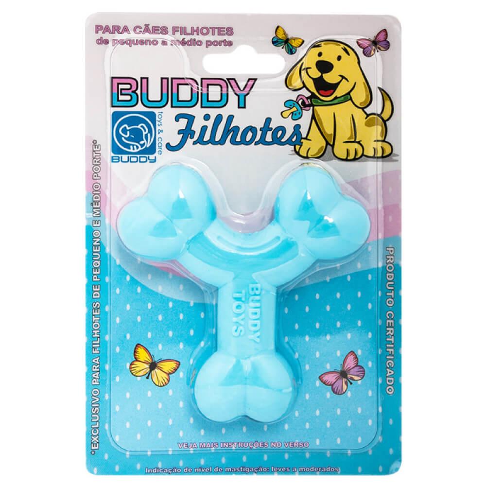Brinquedo Buddy Toys Ossinho para Filhotes Azul  - Focinharia