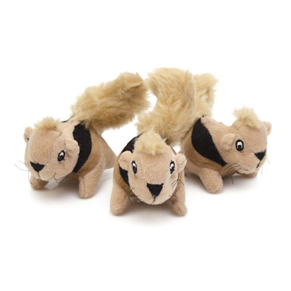 Brinquedo Outward Hound Hide-a-Squirrel - Refil com 3 Esquilos  - Focinharia