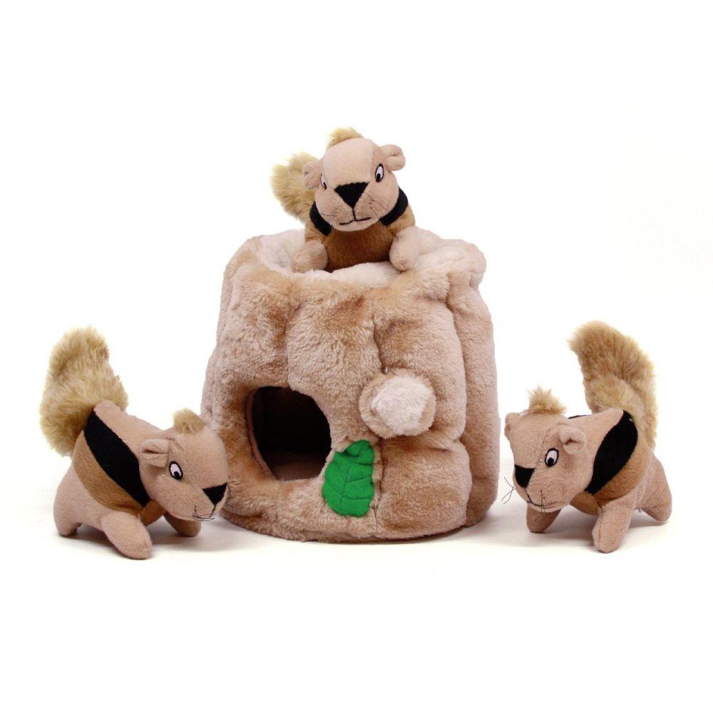 Brinquedo Outward Hound Hide-a-Squirrel Toca de Esquilo  - Focinharia