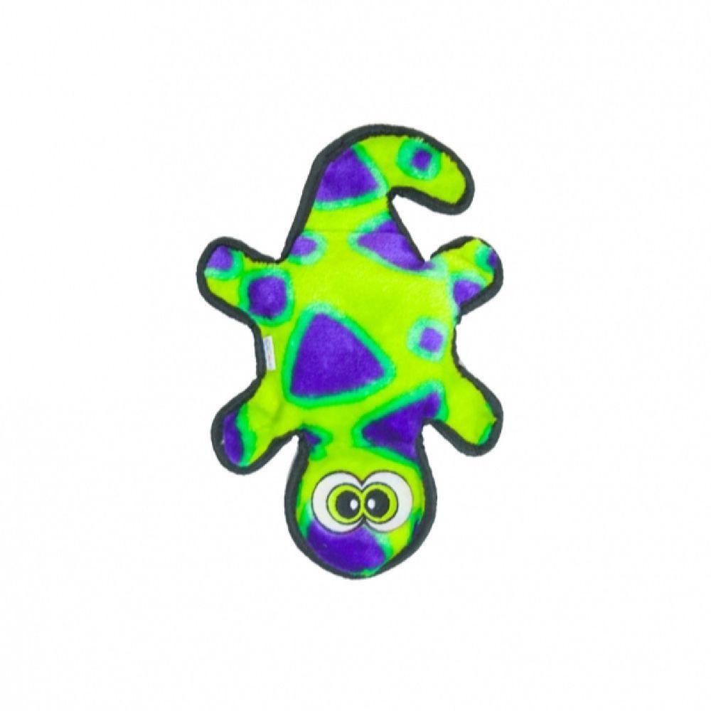 Brinquedo Outward Hound Invincibles Lagartixa Verde e Roxa  - Focinharia