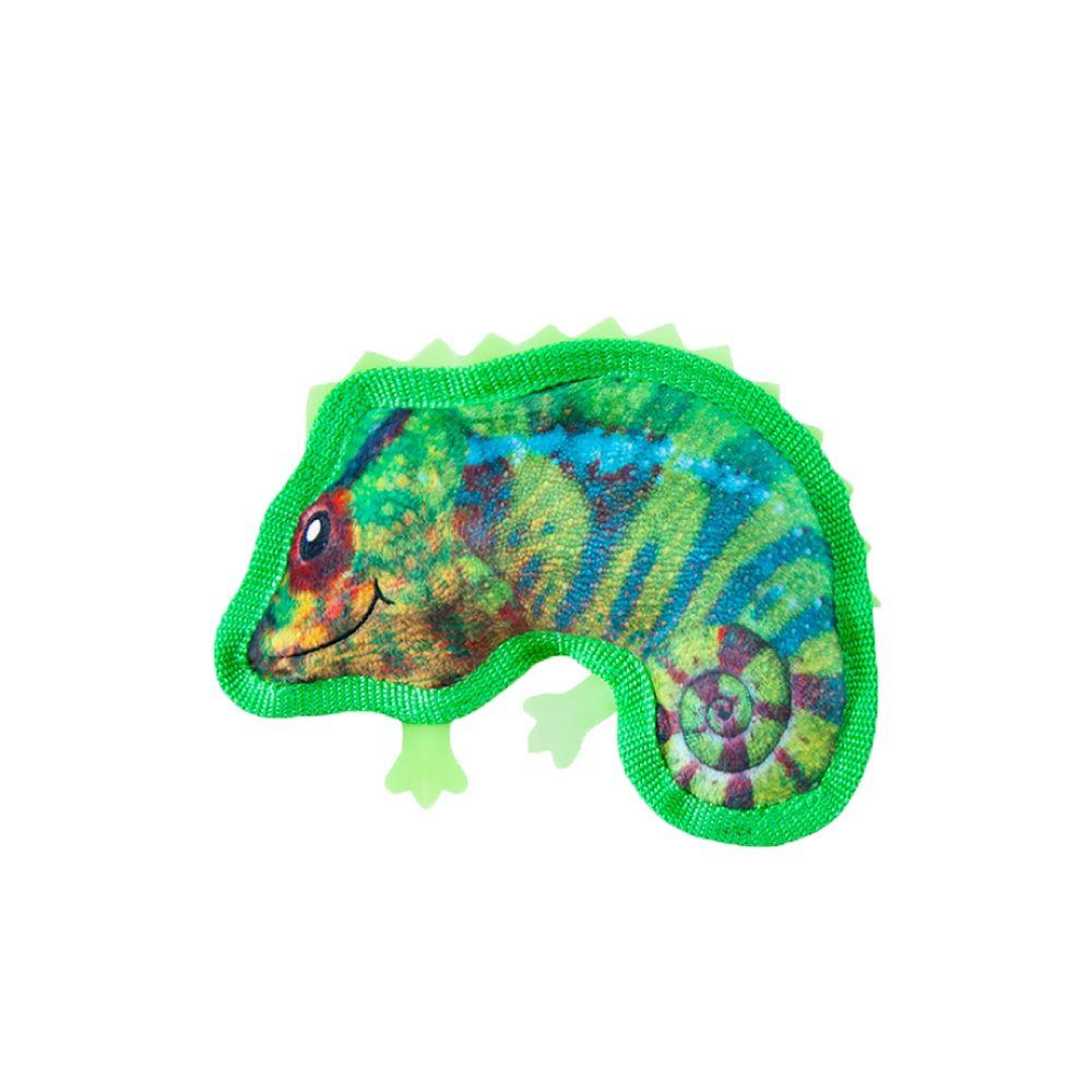 Brinquedo Outward Hound Invincibles Tough Skinz Mini Camaleão  - Focinharia