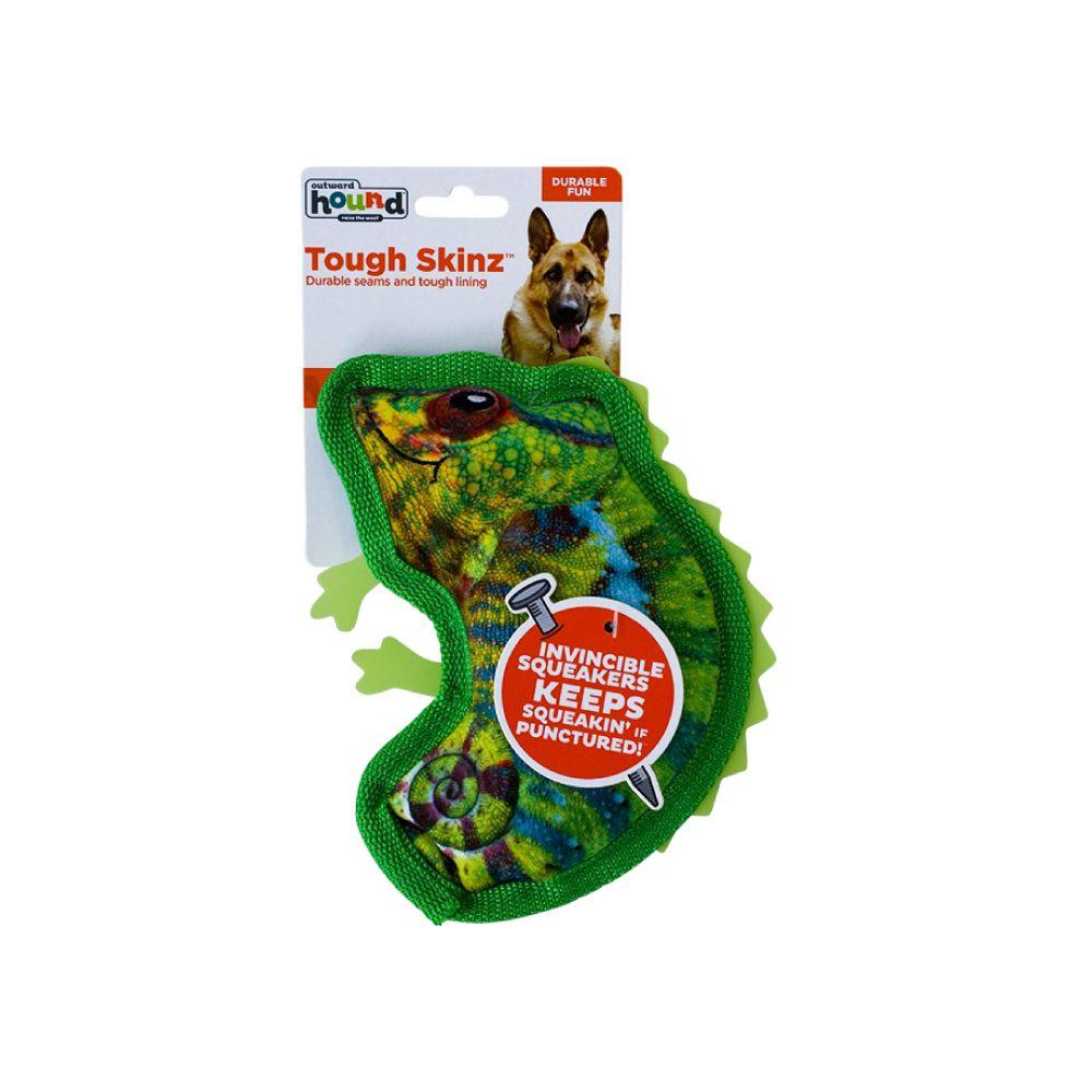 Brinquedo Outward Hound Invincibles Tough Skinz Camaleão  - Focinharia