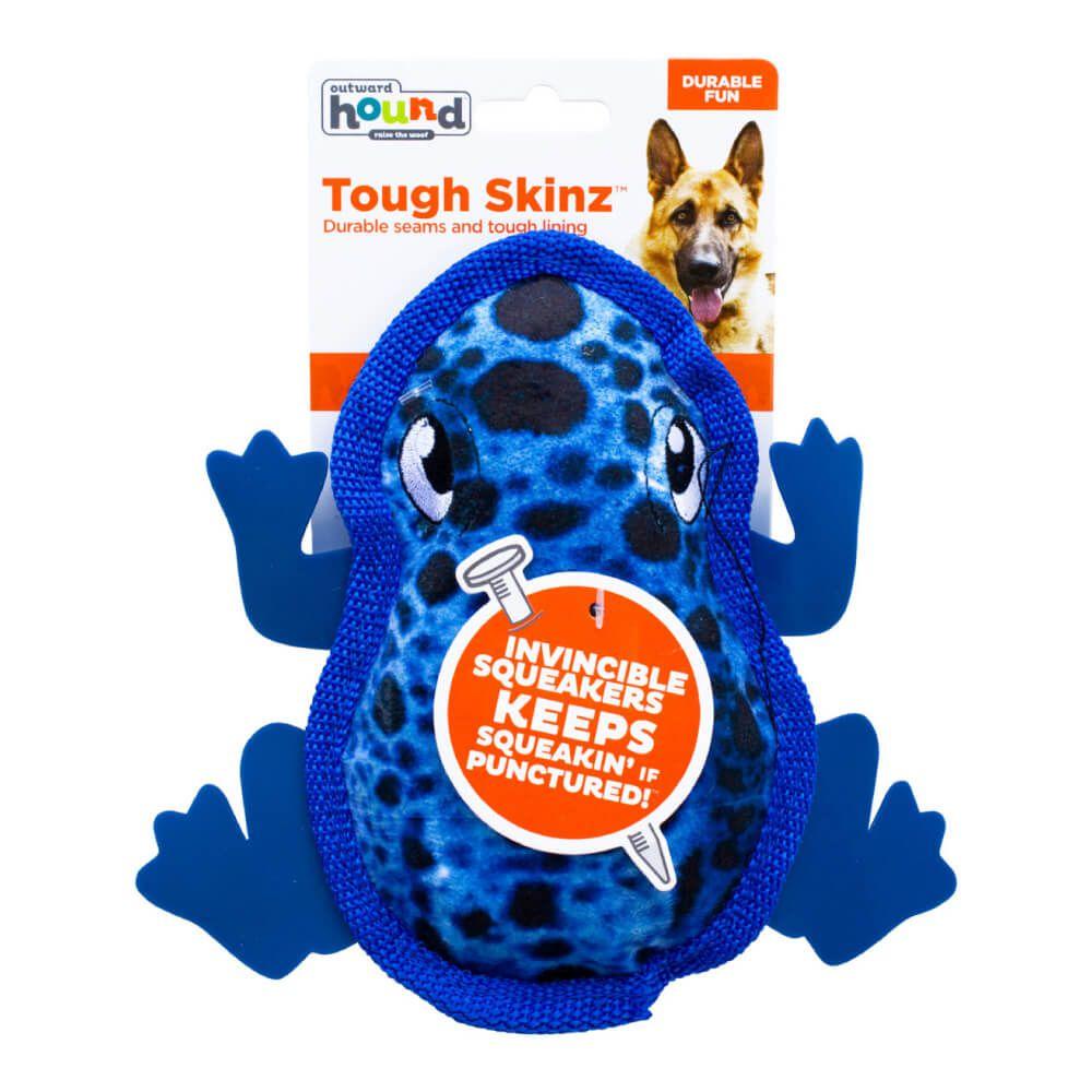 Brinquedo Outward Hound Invincibles Tough Skinz Mini Sapo  - Focinharia
