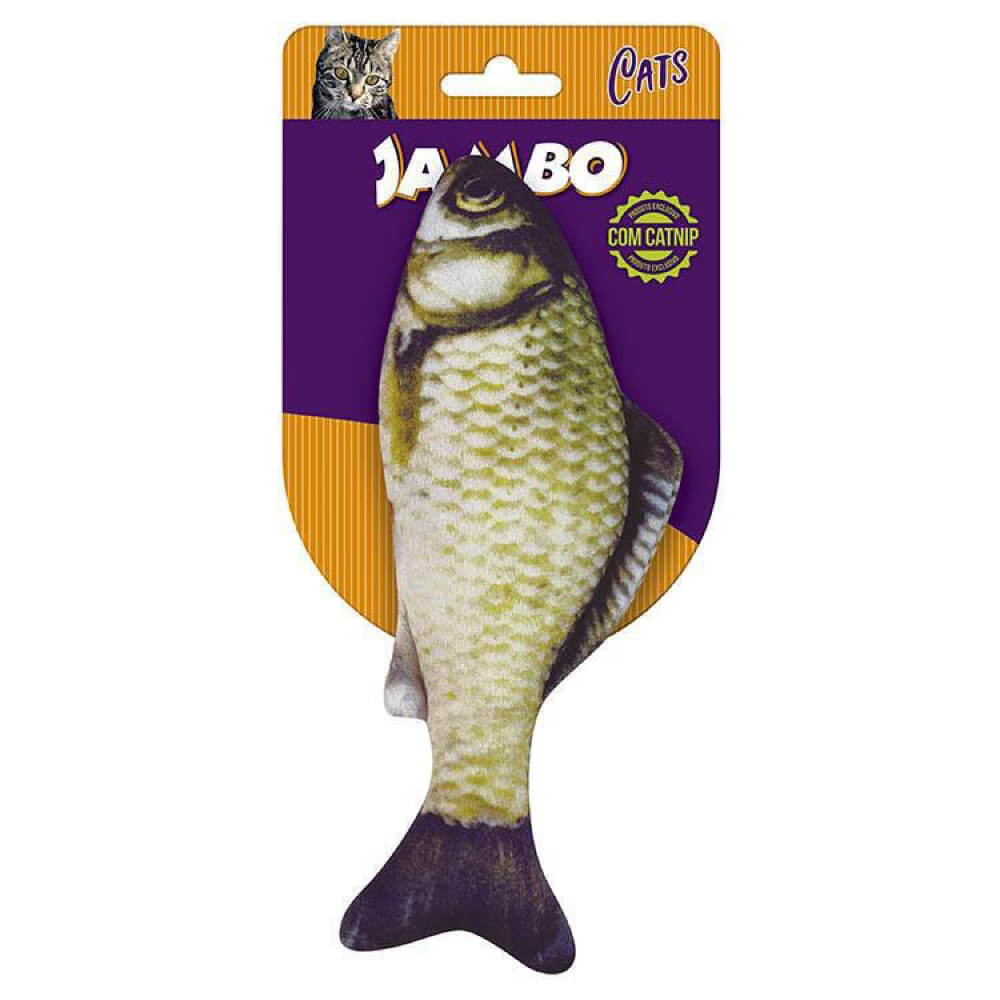 Brinquedo Jambo Real Fish com Catnip  - Focinharia