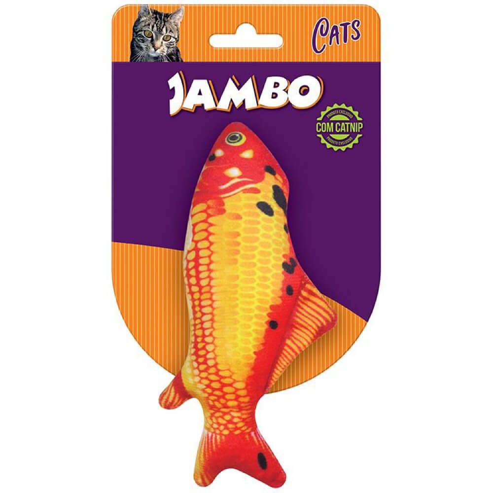 Brinquedo Jambo Real Fish Carpa com Catnip  - Focinharia