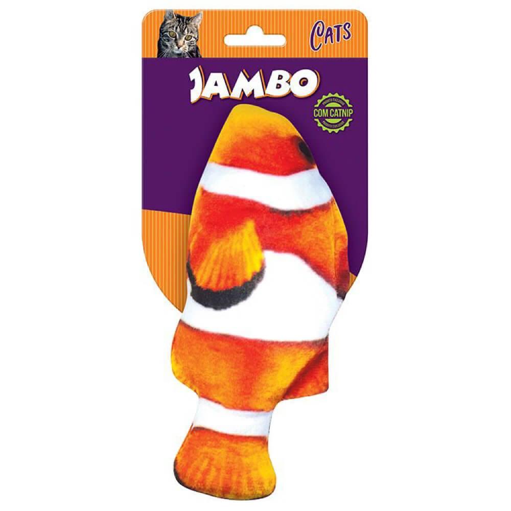 Brinquedo Jambo Real Fish Palhaço com Catnip  - Focinharia