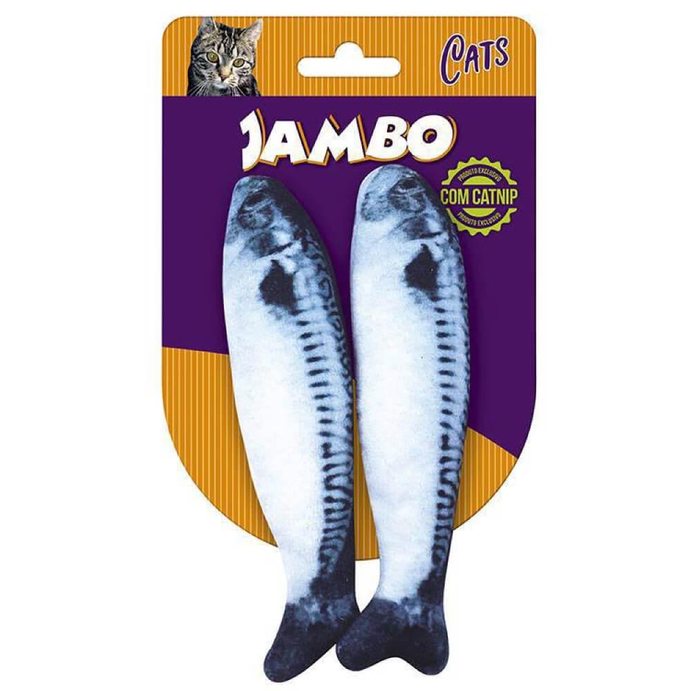 Brinquedo Jambo Real Sardines com Catnip - 2 Unidades  - Focinharia