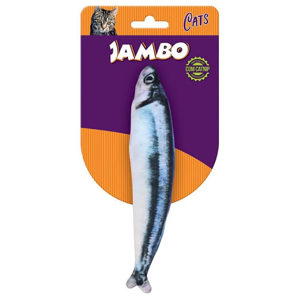 Brinquedo Jambo Real Fish Sauro com Catnip  - Focinharia