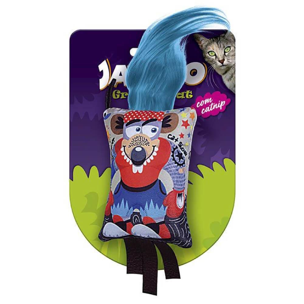 Brinquedo Jambo Graphic Cat Rato Vermelho com Catnip  - Focinharia