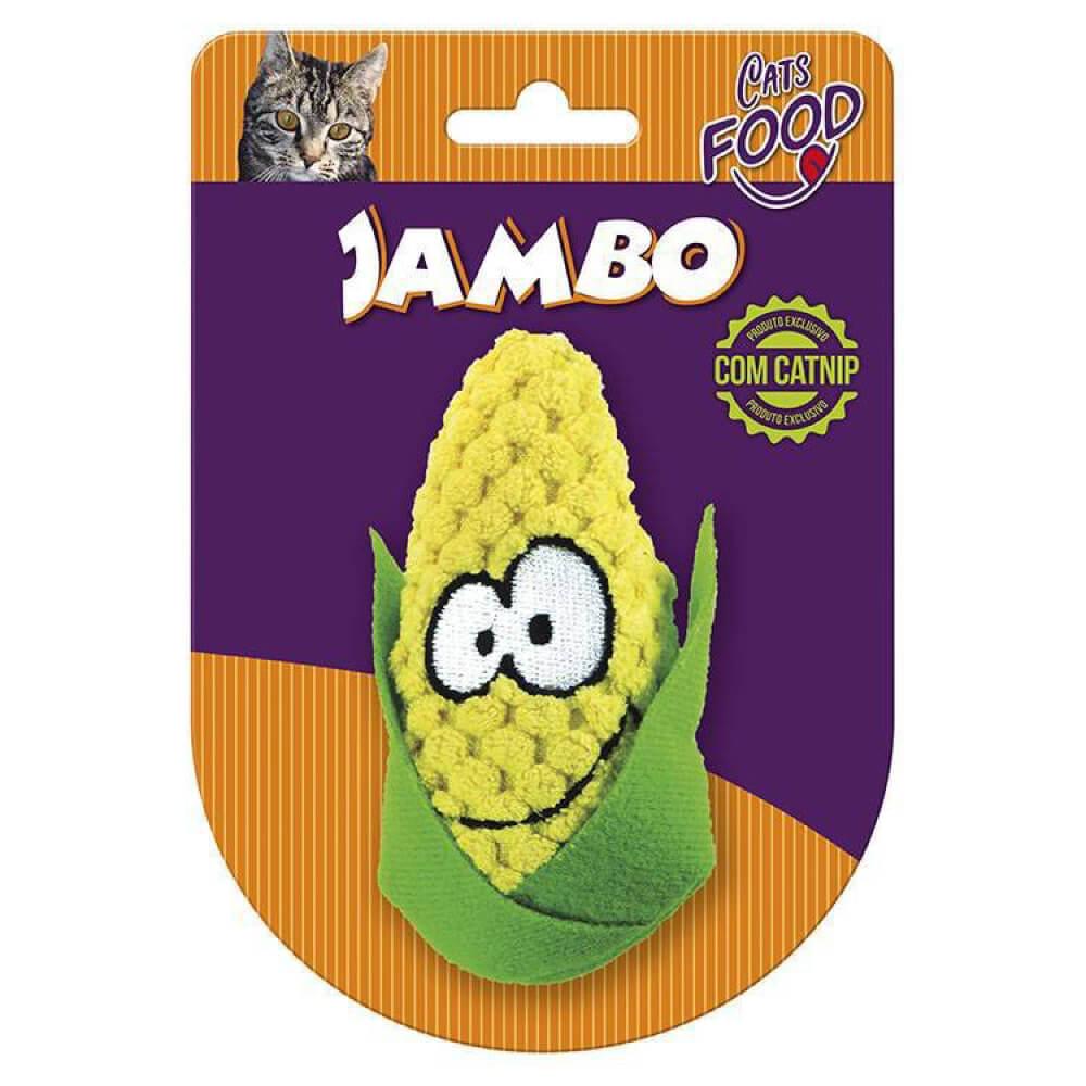 Brinquedo de Pelúcia com Catnip Jambo Food Cat Milho  - Focinharia