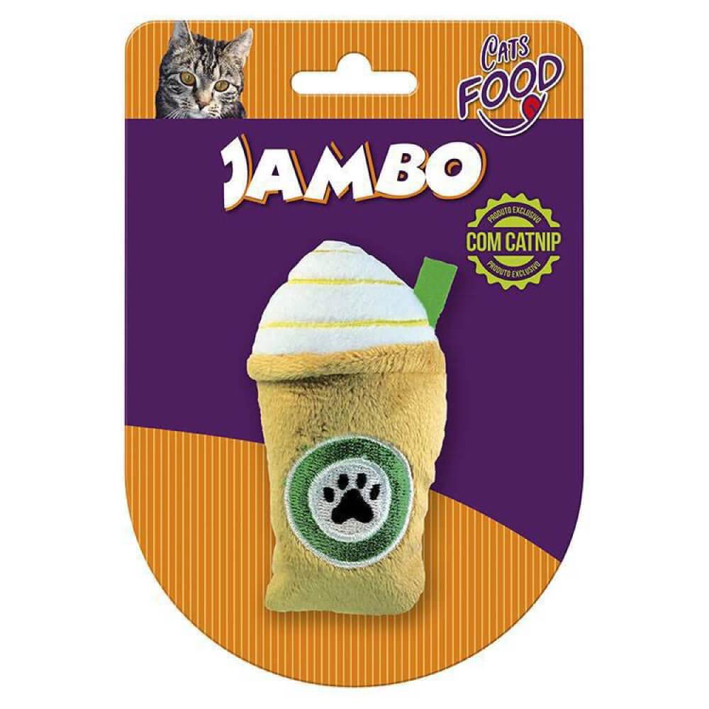 Brinquedo para Gato Jambo Pelúcia Food Cat Starbark Caramel  - Focinharia