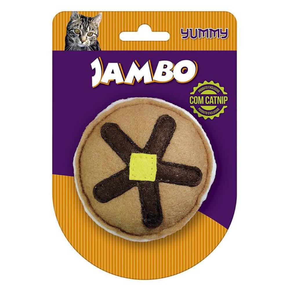 Brinquedo Jambo Yummy Cat Cake com Catnip  - Focinharia