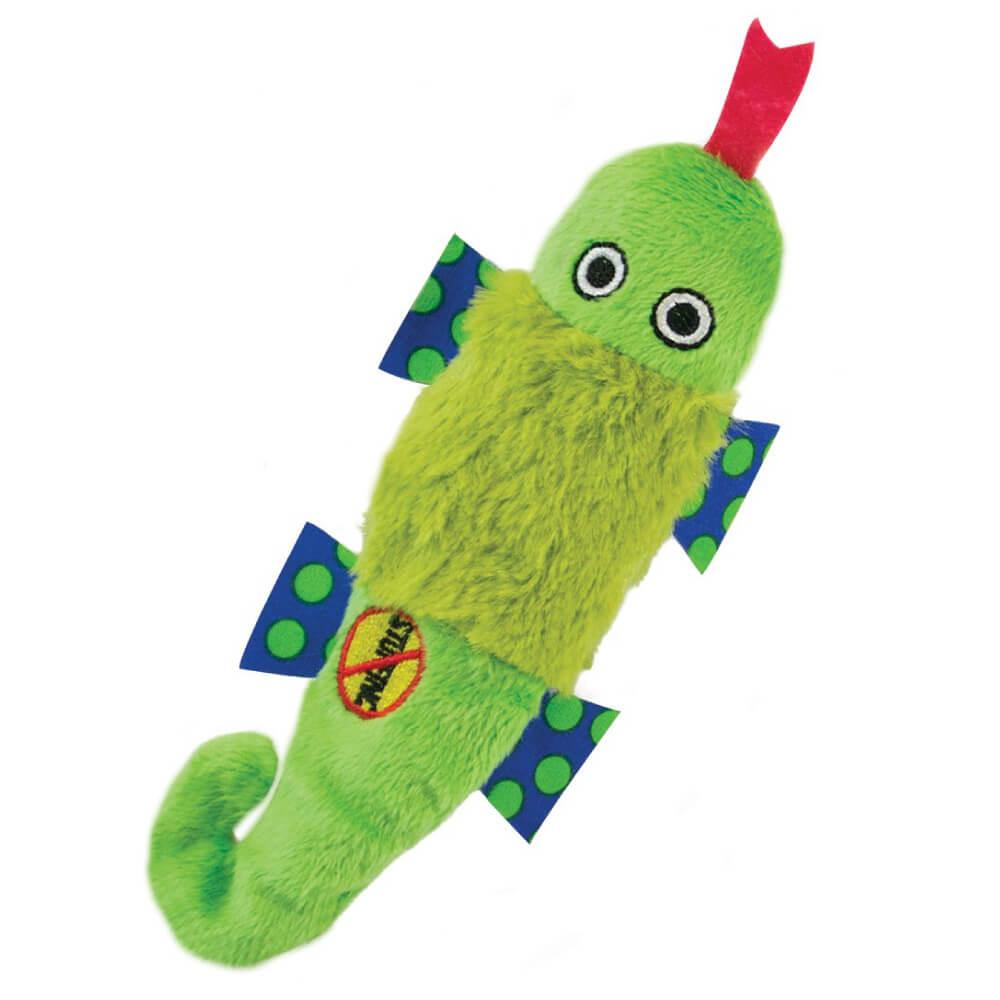 Brinquedo Petstages Stuffing Free Salamandra Verde (Sem Recheio)  - Focinharia