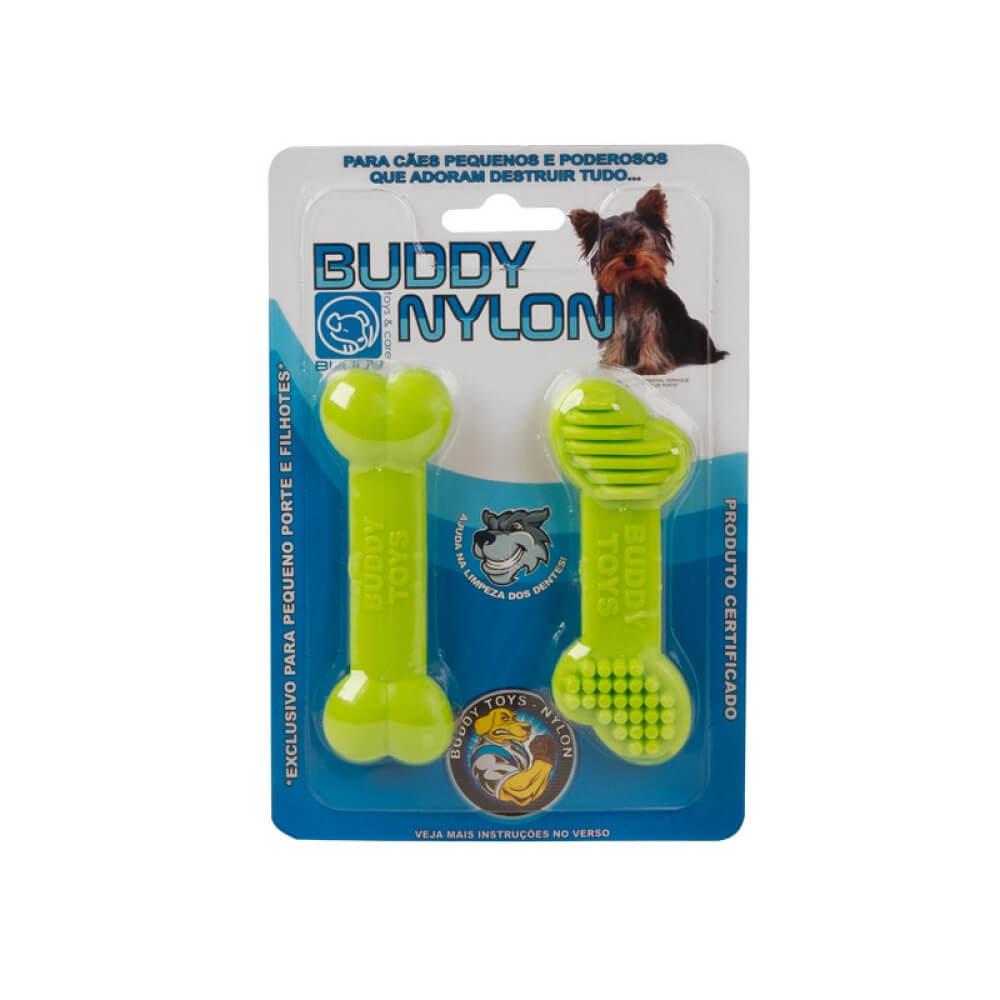 Brinquedo de Nylon Resistente Buddy Toys - Ossinho PP  - Focinharia