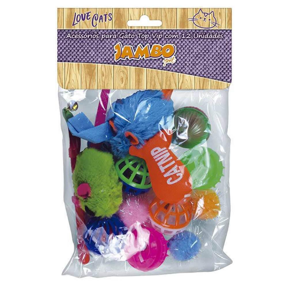 Brinquedos Jambo Top Vip com 12 Unidades  - Focinharia