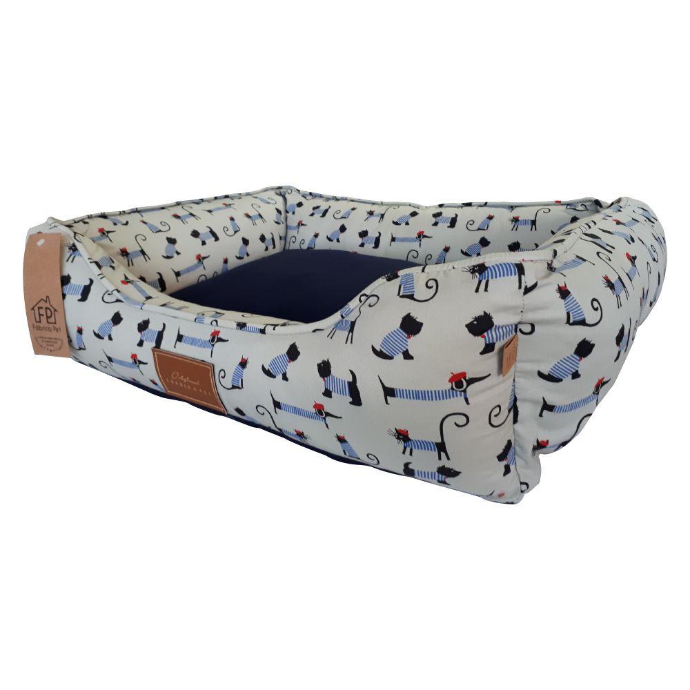 Cama para Cachorro Fábrica Pet Bistrô Azul  - Focinharia