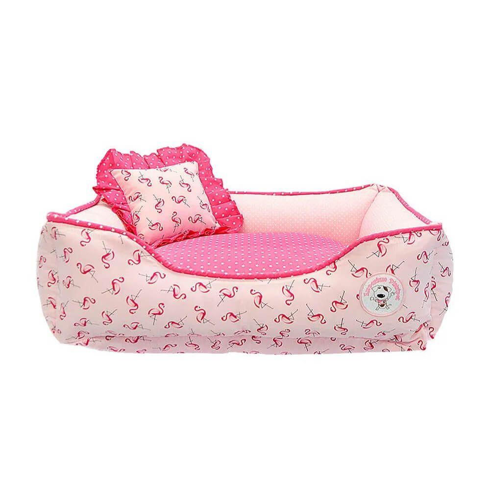 Cama Flamingo Rosa Emporium Distripet  - Focinharia