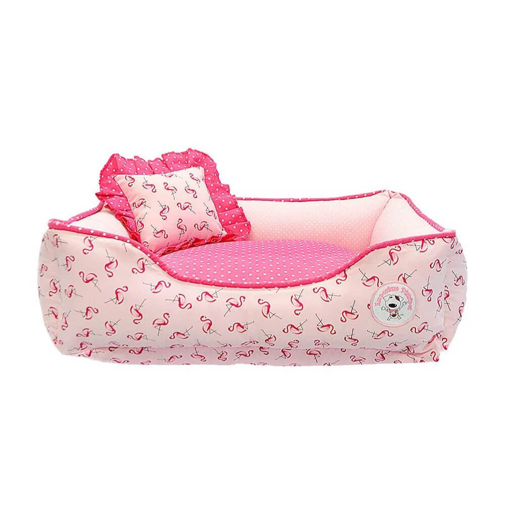 Cama para Cachorro Emporium Distripet Flamingo Rosa  - Focinharia