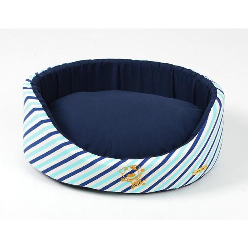 Cama Oval Emporium Distripet Queen Azul  - Focinharia