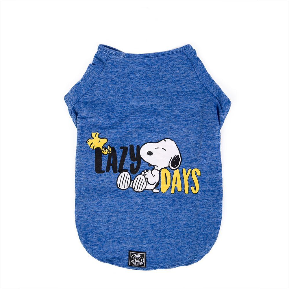 Camiseta de Inverno Zooz Pets Snoopy Lazy Days Azul  - Focinharia