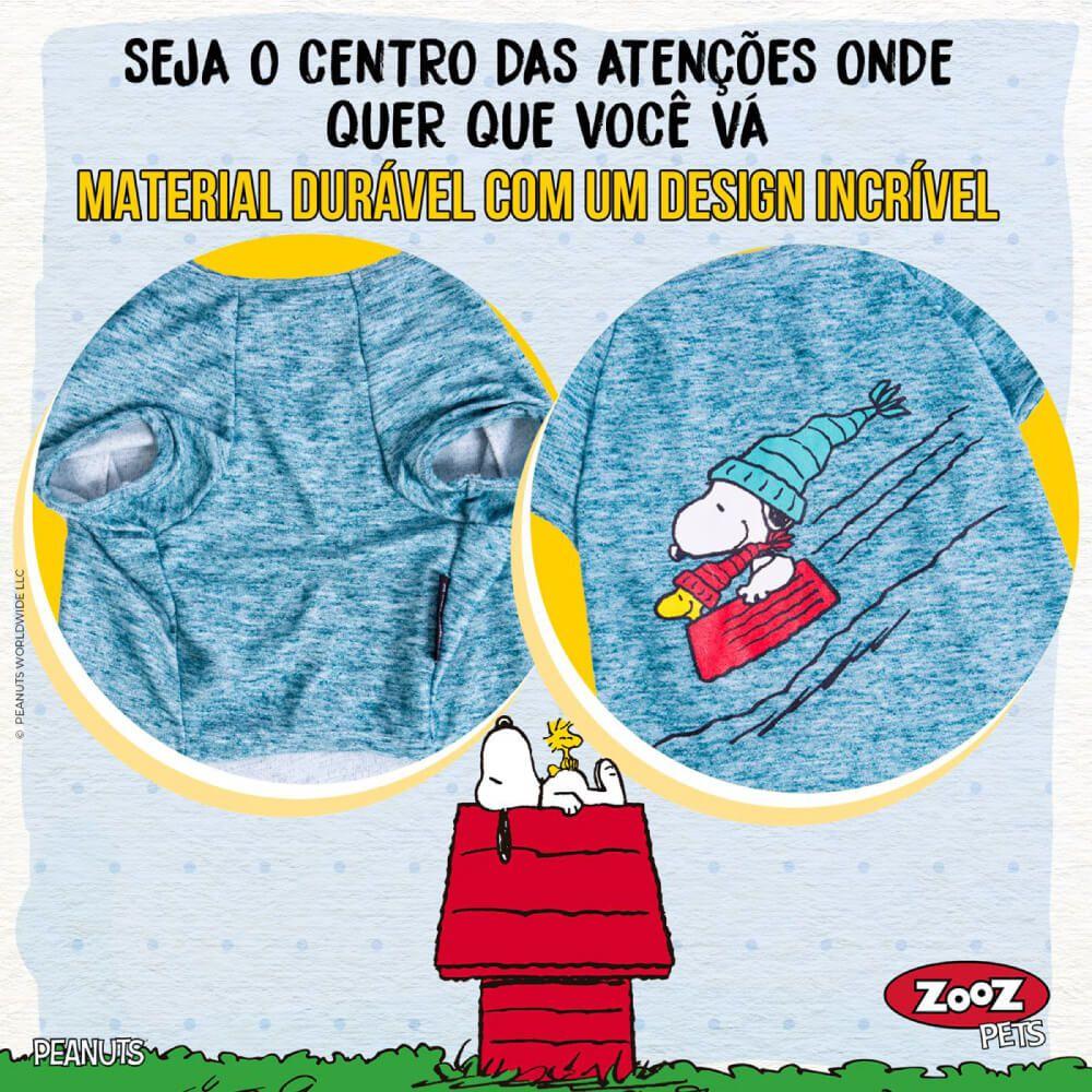 Camiseta Inverno Snoopy Wood Bowl Slide Zooz Pets  - Focinharia