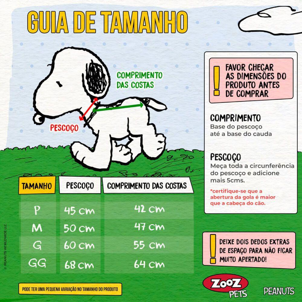 Capa de Chuva Snoopy Aventura Zooz Pets  - Focinharia